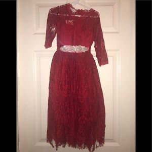 Perfect Christmas Red lace Dress